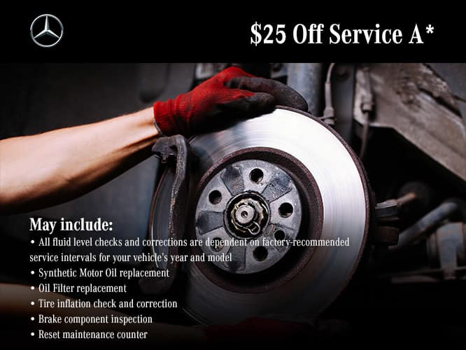 $25 off Service A