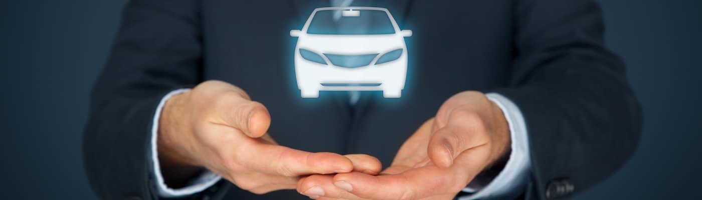 Man Holding Car Hologram
