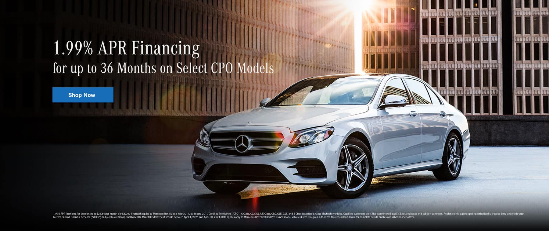 1.99% APR Financing for up to 36 Months on Select CPO Models