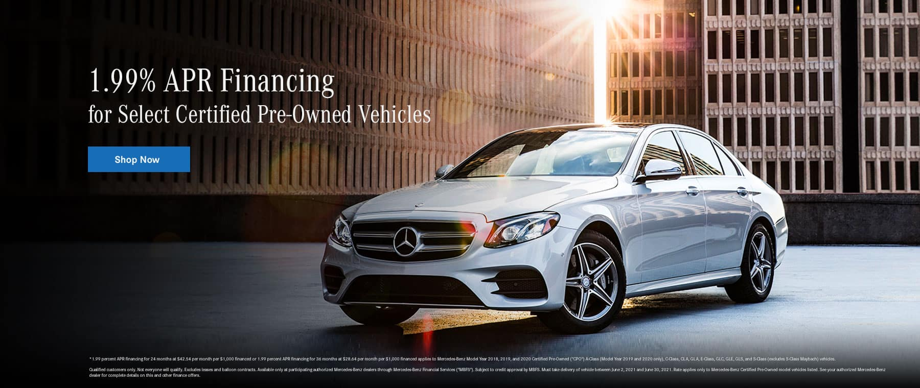 1.99% for Select Certified Pre-Owned Vehicles