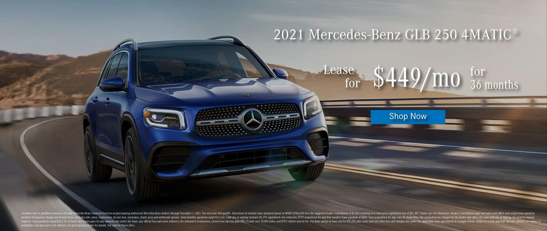 mercedes-benz of chantilly mercedes GLB 250 suv AWD lease special