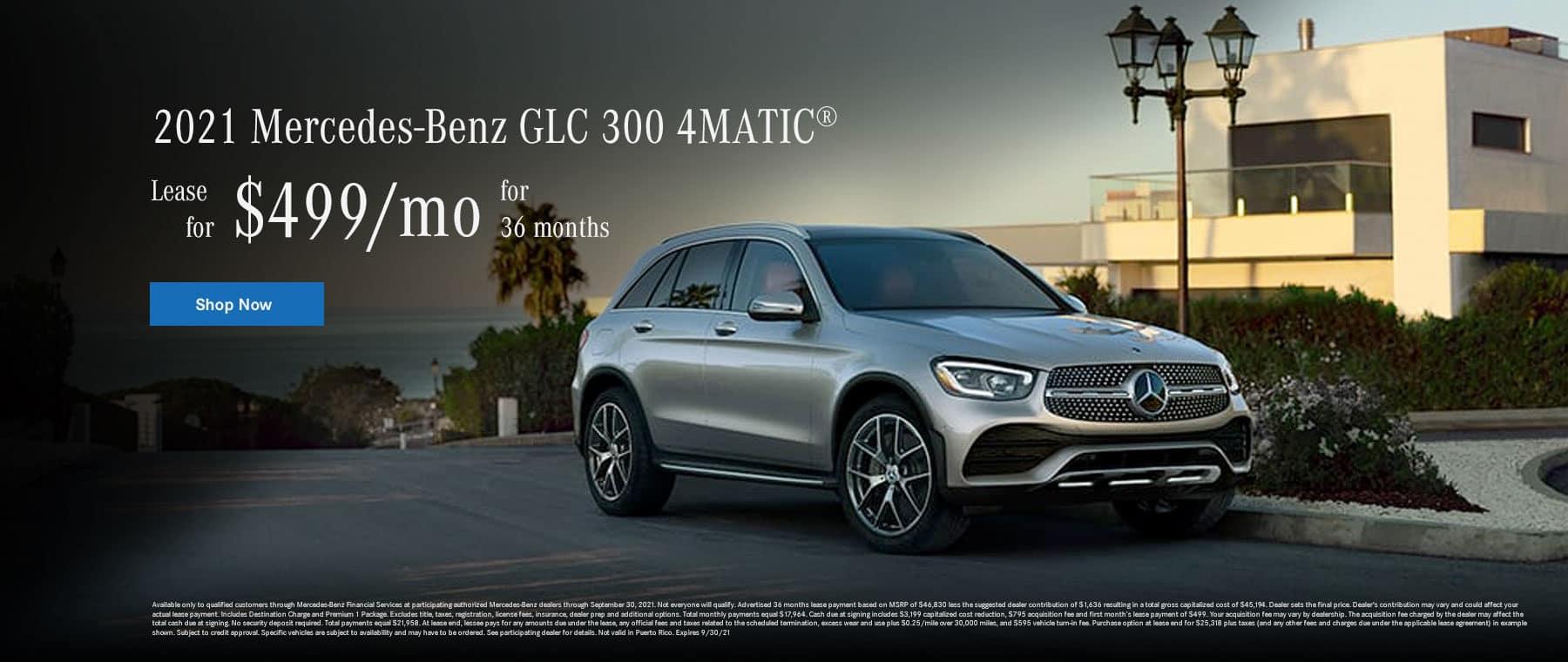 Mercedes-Benz GLC 300 4-MATIC - $499 / 36 mos