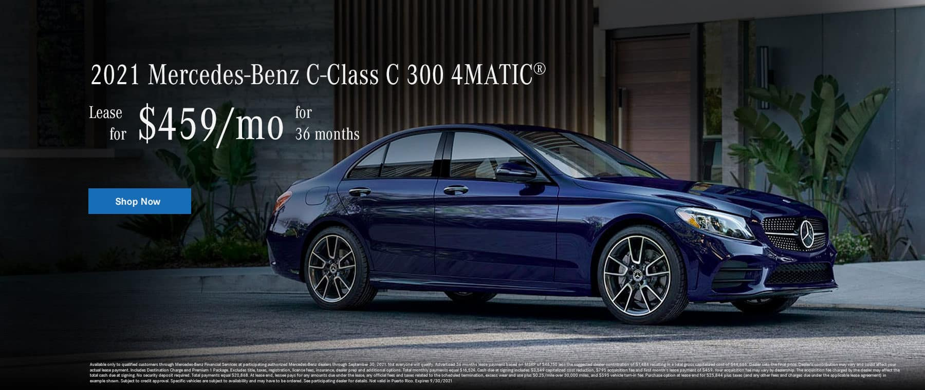 Mercedes-Benz C-Class 300 4-MATIC - $459 / 36 mos