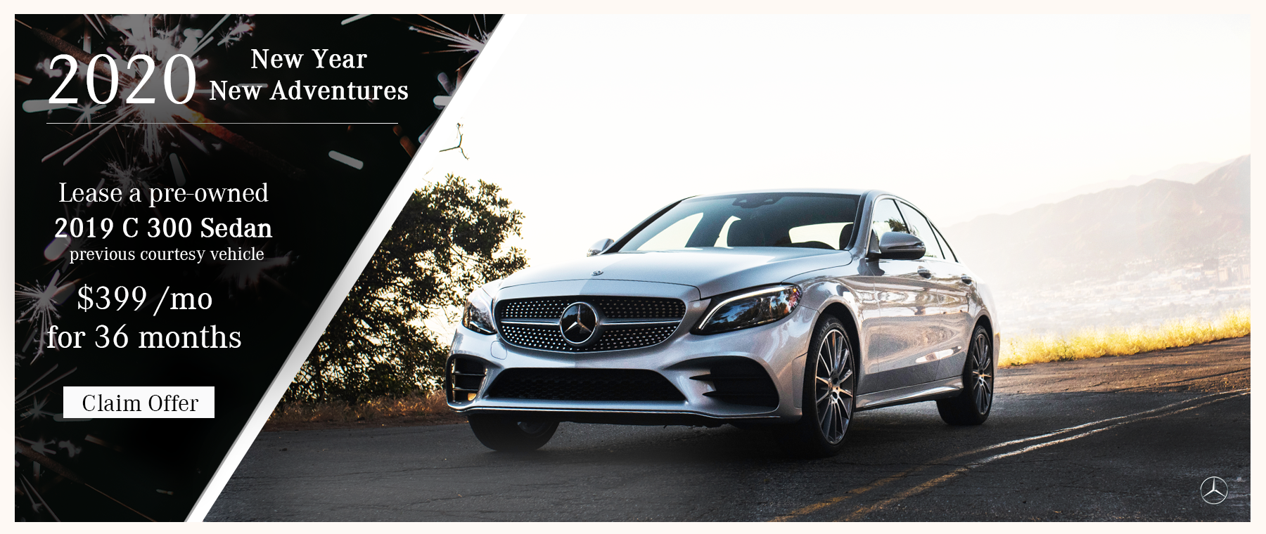 Lease a 2019 C 300 Sedan for $399 a month
