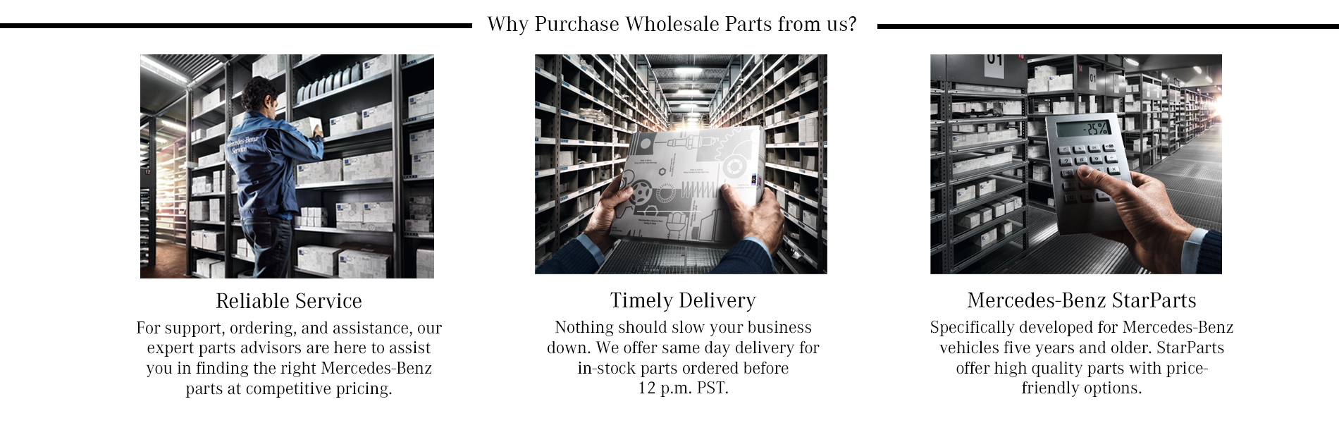 Wholesale Parts Department Mercedes-Benz of Eugene