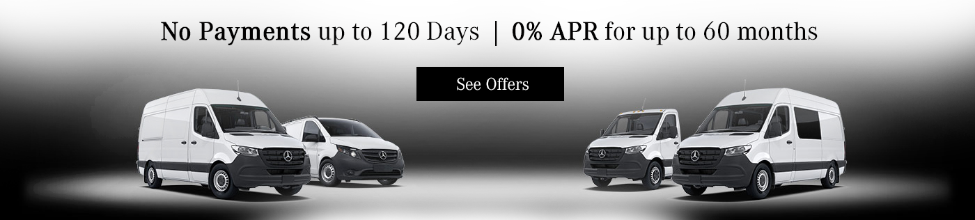 No Payments up to 120 Days Mercedes-Benz Vans