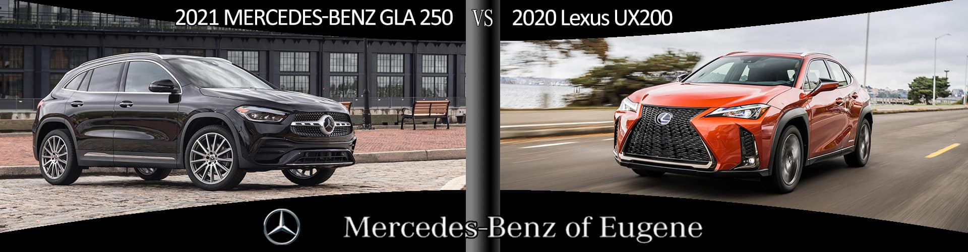 Why drive the Lexus UX200 when you can own the more luxurious and sport Mercedes-Benz GLA 250 at Mercedes-Benz of Eugene