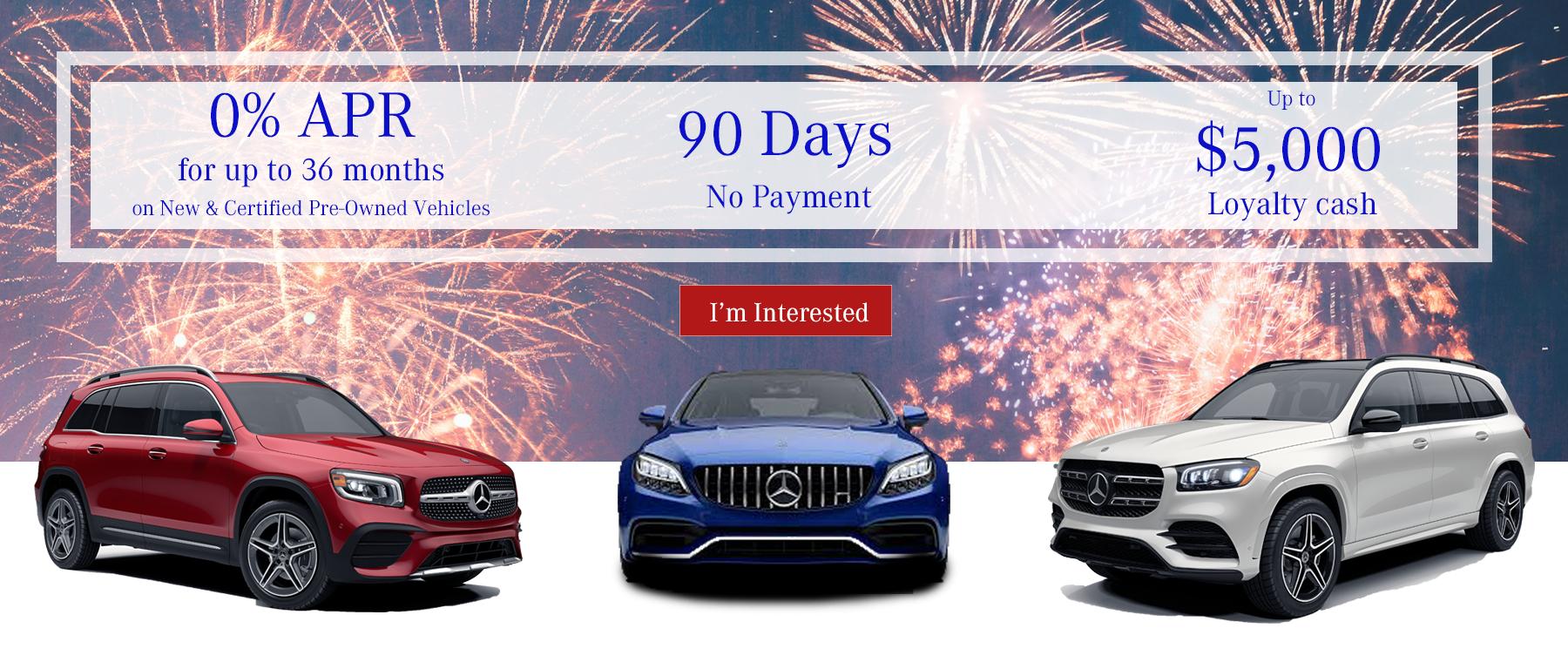 July Mercedes-Benz Specials - 0% APR