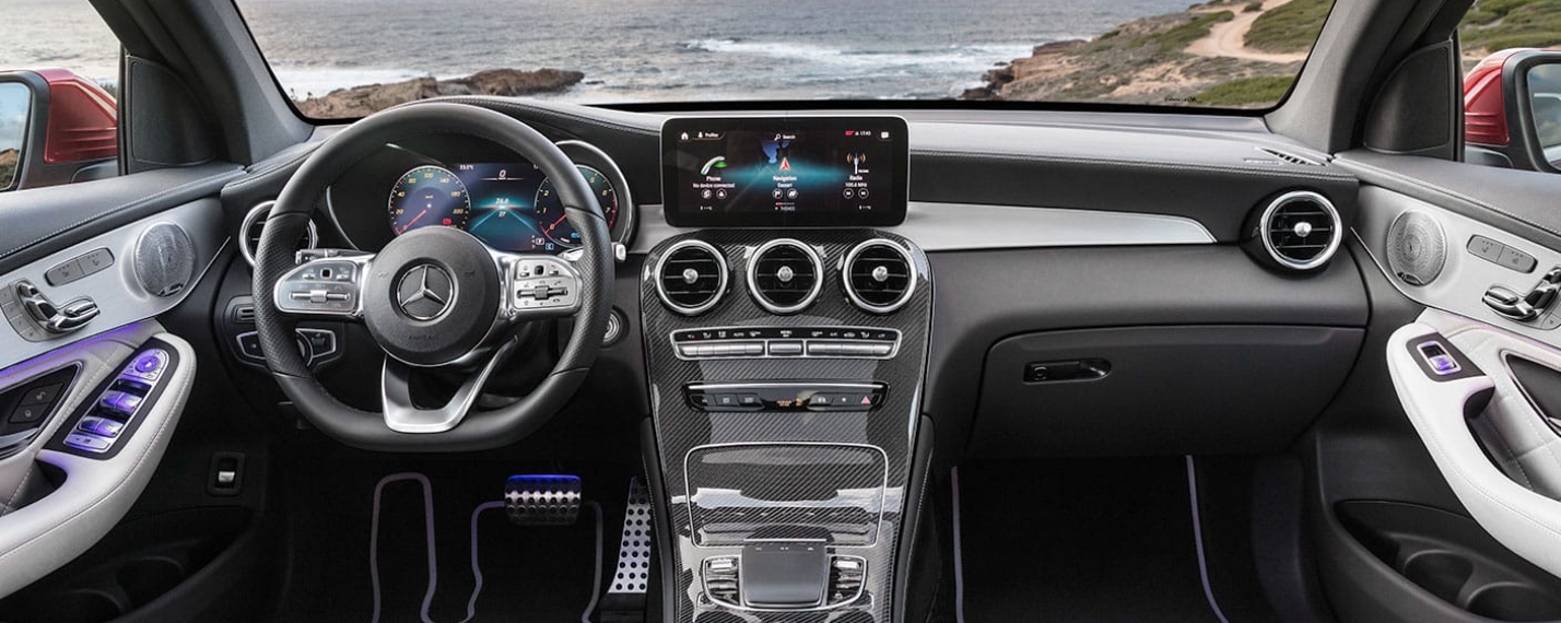 interior 2021 glc coupe