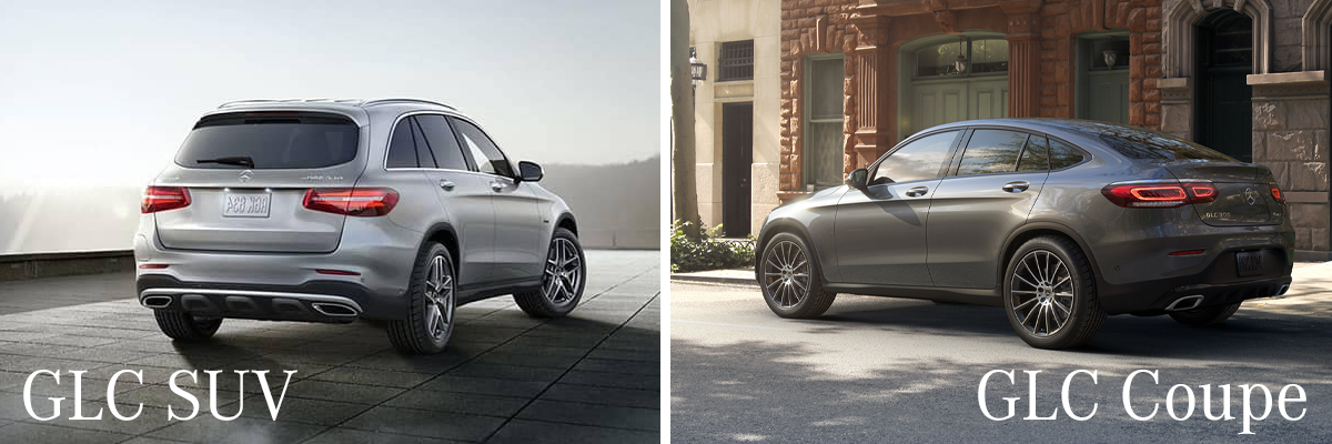 GLC SUV and GLC Coupe comparison