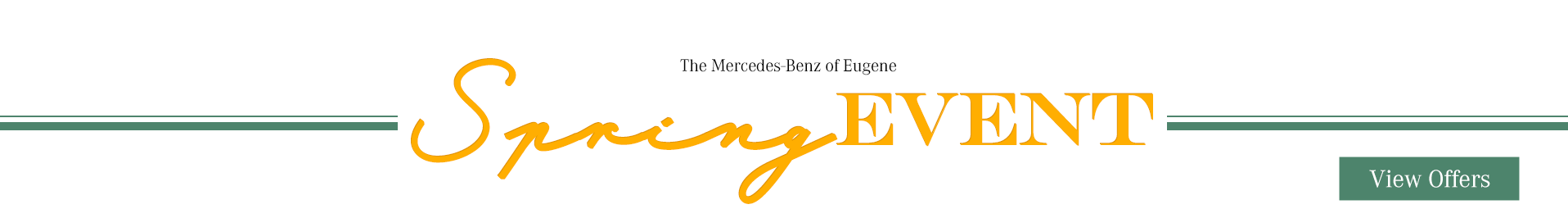 Mercedes-benz spring event offers