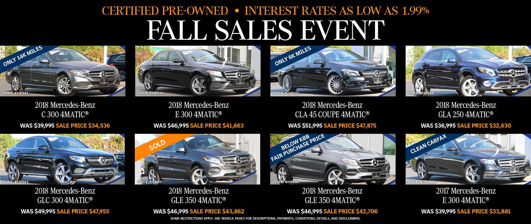 Mercedes-Benz Fall Event