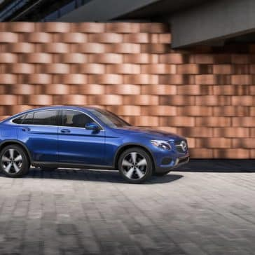 2019 Mercedes-Benz GLC Coupe blue exterior