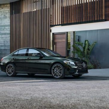2019 Mercedes-Benz C-Class Sedan in front of home