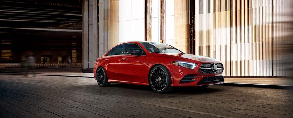 Red A-Class Sedan