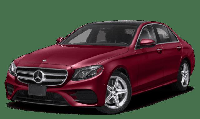 Red Mercedes-Benz E-Class
