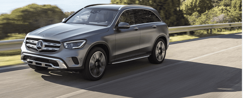Silver Mercedes-Benz GLC