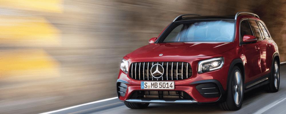 Red Mercedes-Benz GLB