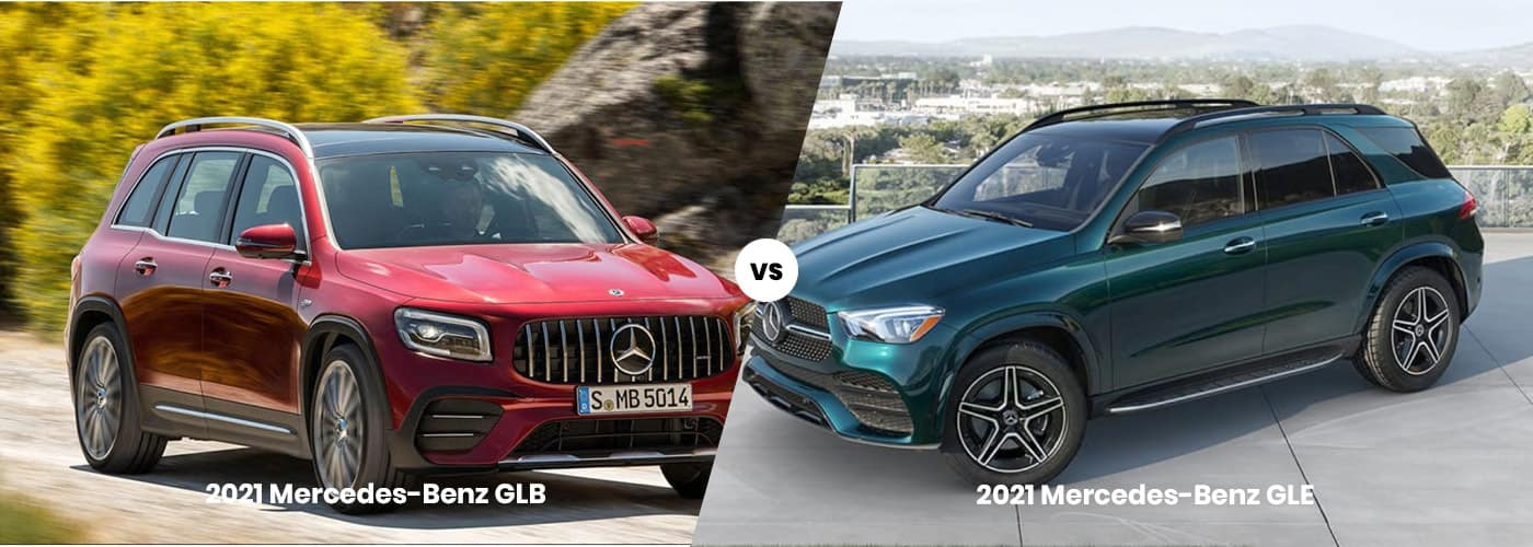 2021 Mercedes-Benz GLB vs. GLE