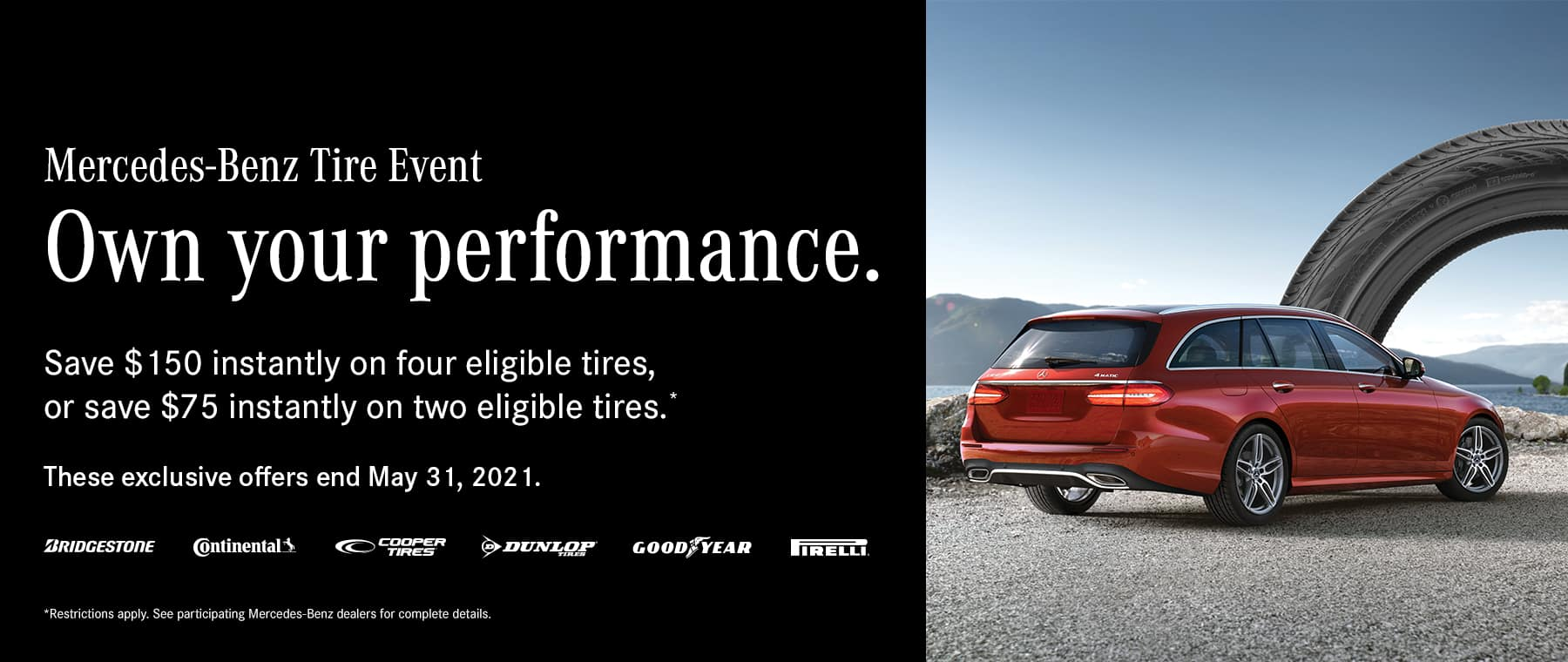 April Tire Rebate Special