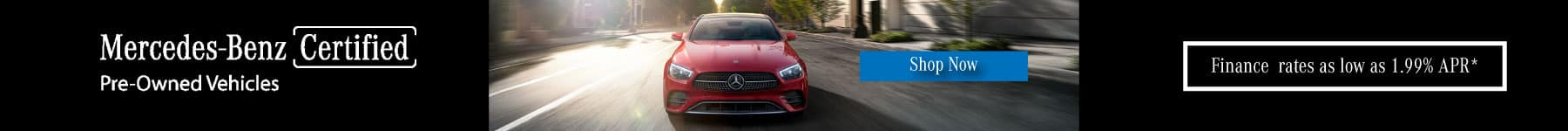 Mercedes-Benz certified pre owned financingspecial