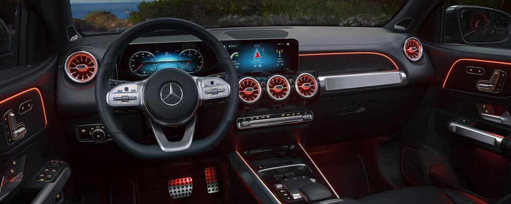 Interior view of the 2021 Mercedes-Benz GLB