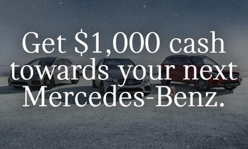 Get $1,000 Towards Your Next GLE or GLS.