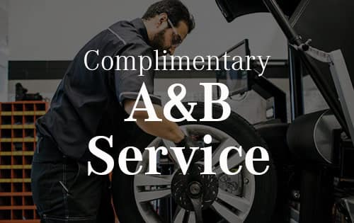 Complimentary A & B Services with each new Mercedes-Benz