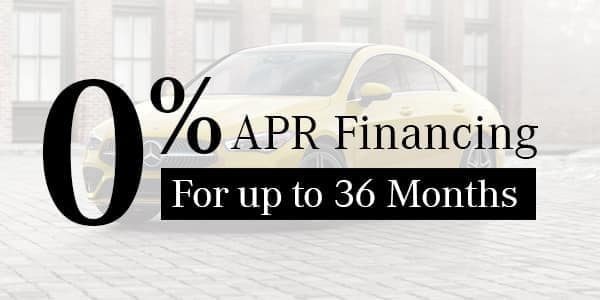 Receive 0% APR for Up to 36 Months on Select Models