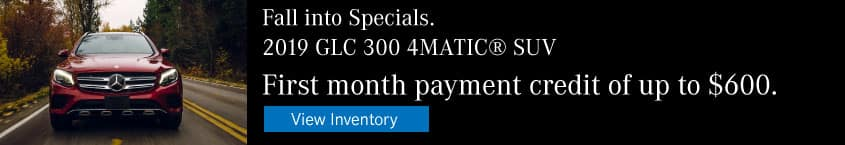2019 GLC 300 First Month Payment Credit