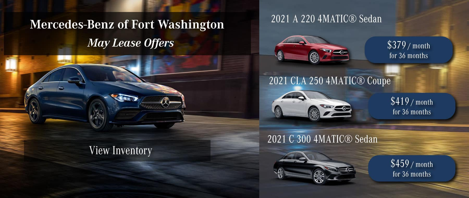 mercedes-benz of fort washington lease specials