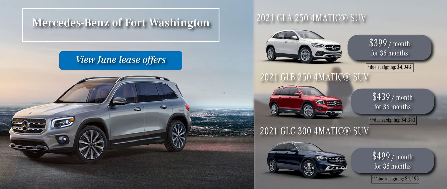 Mercedes-Benz of Fort washington new 2021 lease specials