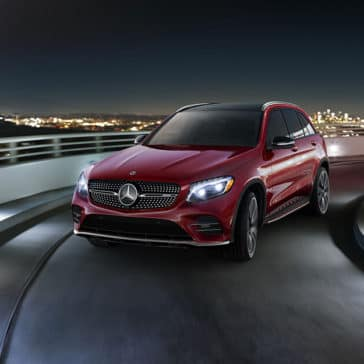 2018 Mercedes-Benz GLC AMG 43 Driving on a Highway Ramp