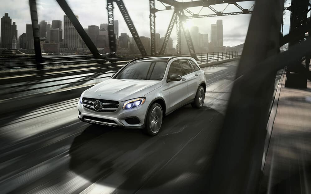 2018 Mercedes-Benz GLC 300 Driving Over a Bridge