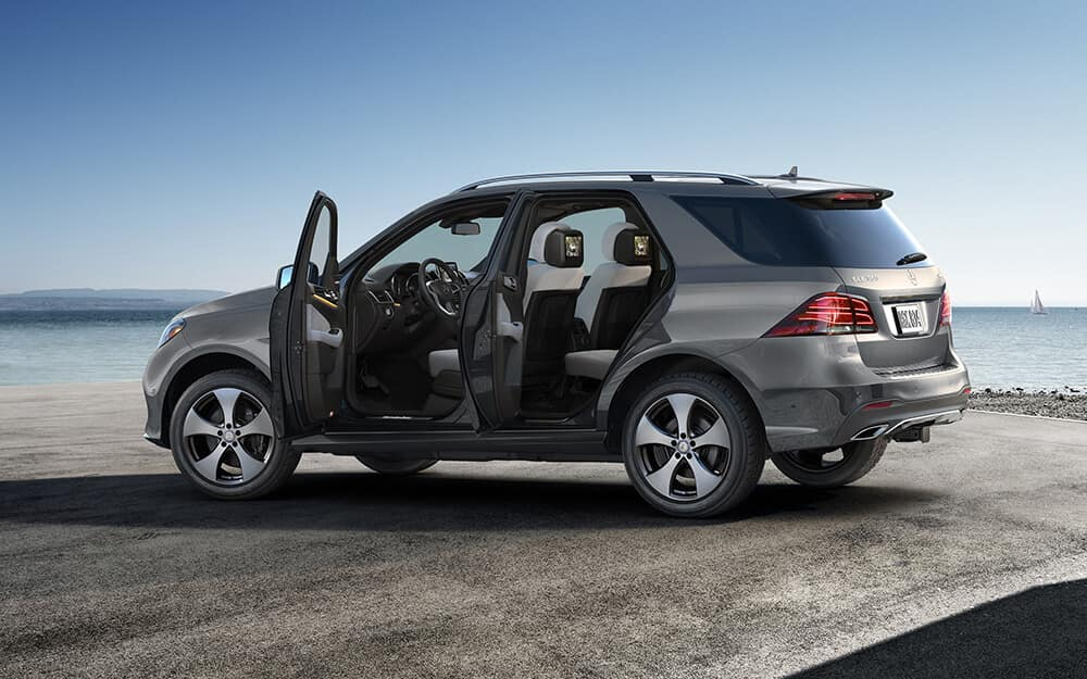 2018 Mercedes-Benz GLE Exterior with Doors Open for View of Inside