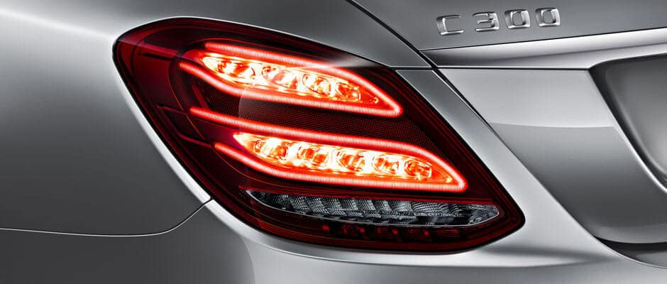 2018 Mercedes-Benz C-Class Sedan Exterior Up Close of Brake Light