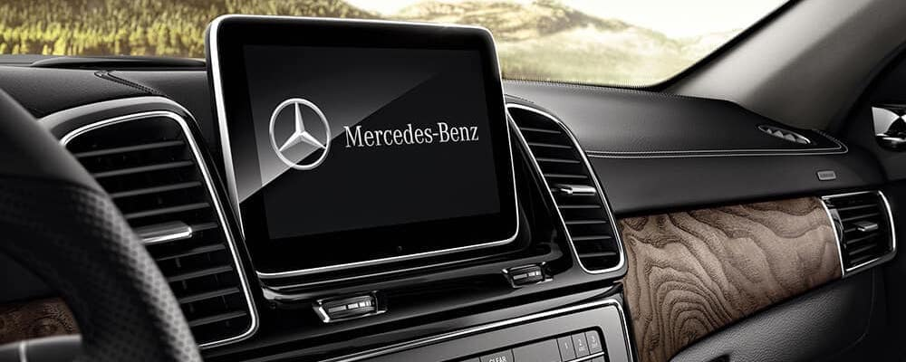 AMG GLE interior touchscreen