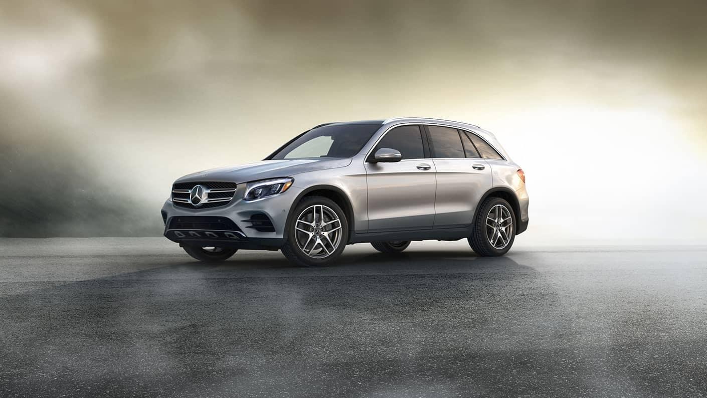 2019 Mercedes-Benz GLC gold background