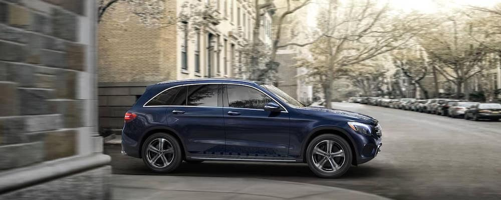 2019 Mercedes-Benz GLC driving around corner