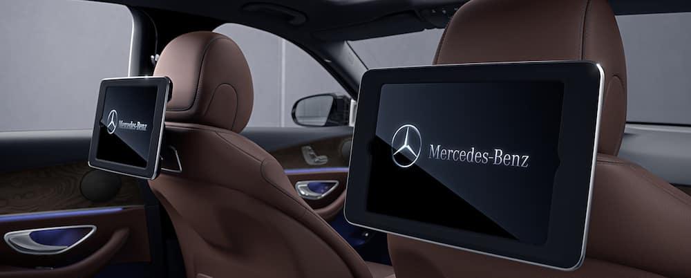 E-Class rear seat entertainment screens