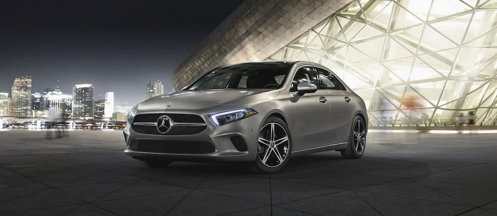 Silver Mercedes-Benz A-Class