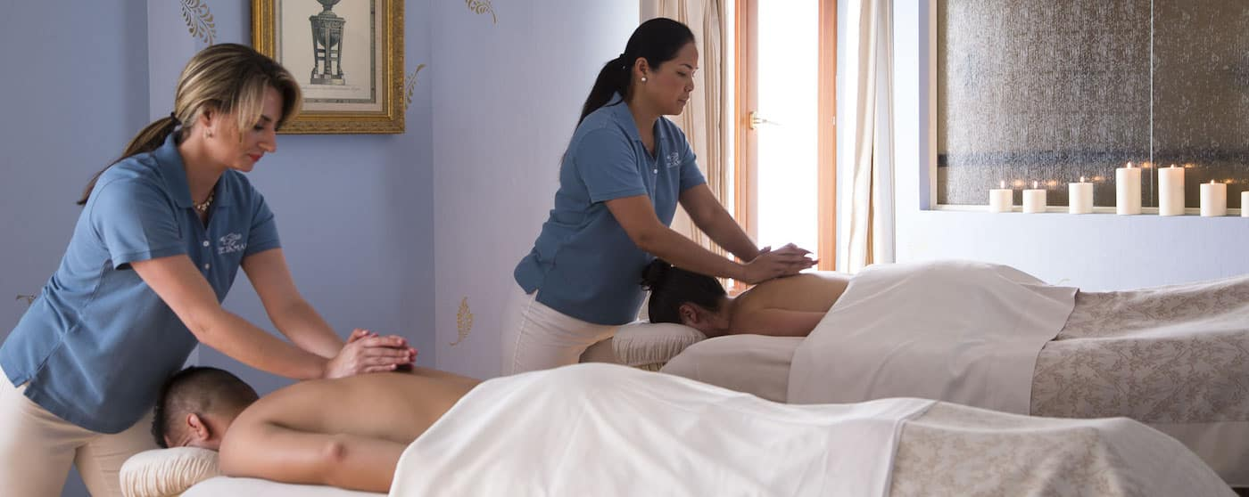 Couples massage at Delamar Spa