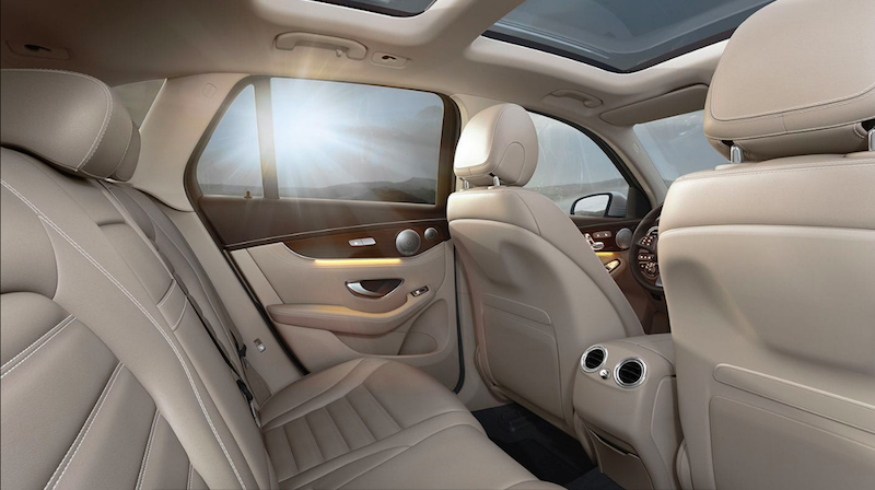 Back seat of Mercedes-Benz GLC SUV