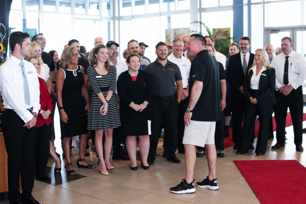 Coach butch jones helps celebrate best of the best for Mercedes benz of knoxville tn