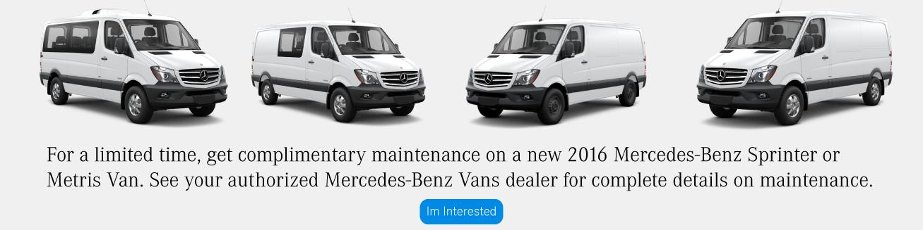Mercedes Benz Vans Special Offers
