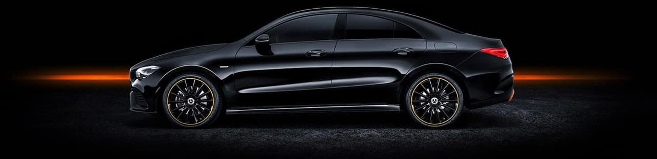 2020 CLA - Side view against black background