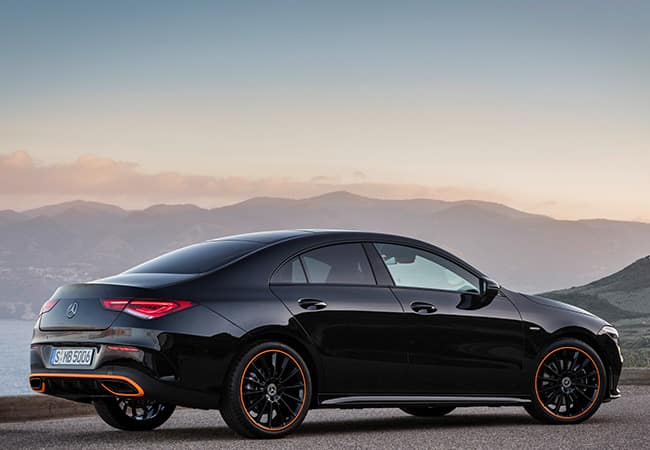 2020 CLA - side view in front of mountains