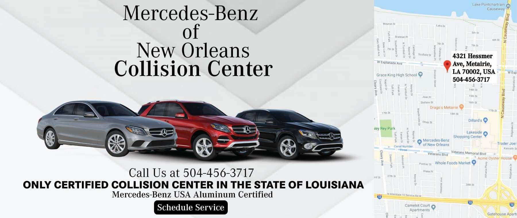 Mercedes-Benz Collision Center in New Orleans