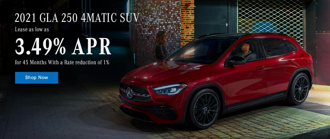 2021 GLA 250 4MATIC SUV, Lease as low as 3.49% for 45 Months With a Rate reduction of 1%