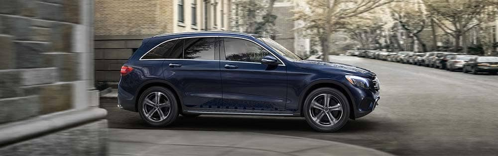 2018 Mercedes-Benz GLC Turning a Corner at an intersection